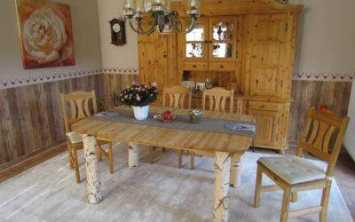 Möbelbau mit Dekobirken