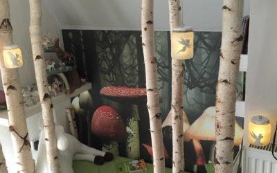 Raumgestaltung mit wunderschönen Birkenstämmen