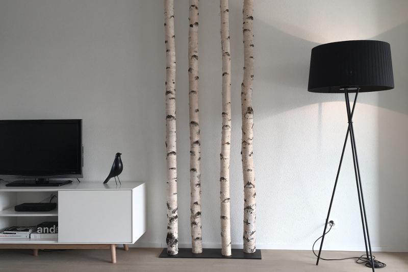 Beliebt Moderne Raumgestaltung mit Birkenstämmen   Birkenstämme für Ihr CN53